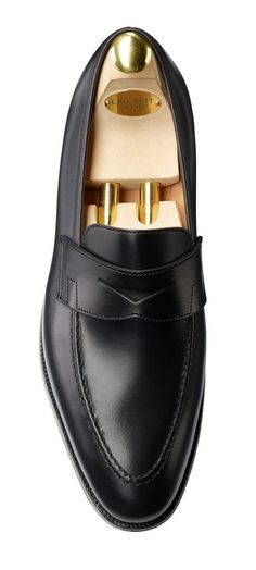 Sydney Black Calf, Men's Penny Loafer | Crockett & Jones