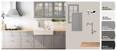 Ikea kitchen-gray/white