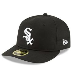differently 98eee 8e94b Men s Chicago White Sox New Era Black Fan Retro Low Profile 59FIFTY Fitted  Hat, Your Price   31.99