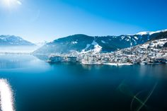 Zell am See, winter holidays, winter holidays, skiing, snowboar . Hotel Zell Am See, Winter Hiking, Grand Hotel, Winter Holidays, Skiing, River, Outdoor, Design, Winter Vacations