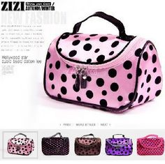 Promotion! Hot Cute Double Zipper Dot Cosmetic Box Makeup Bag Coin Pouch Key Make Up Case Hand Clutch Bag Phone Bag-in Bag Parts  Accessories from Luggage  Bags on Aliexpress.com $3.99