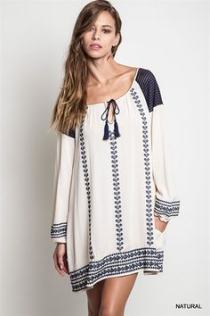 Madison Embroidered Bell Sleeve Dress from Gypsy Outfitters - Boho Luxe Boutique