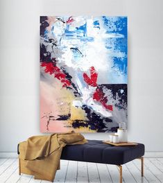 Extra Large Wall Art Original Handpainted Contemporary XL Abstract Painting Horizontal Vertical Huge Size Art Bright and Colorful Texture Painting On Canvas, Large Painting, Canvas Paintings, Abstract Paintings, Extra Large Wall Art, Large Art, Diy Wall Art, Canvas Wall Art, Wall Art Prints