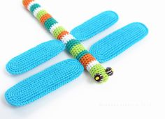 Crochet pattern of dragonfly in frame home decor di sashakulakova