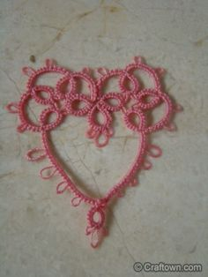 Free Tatting Pattern - Tatted Heart!