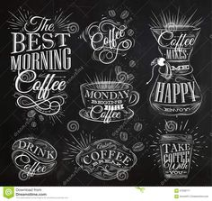 Coffee Signs Chalk Stock Illustration - Image: 57638771                                                                                                                                                                                 More