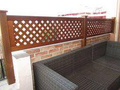 Celosías de madera para terrazas en Valencia.