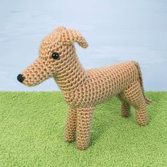 ***Please note that I sell PDF crochet patterns (see Delivery Information below), NOT completed items! As such, all sales are FINAL.*** An original crochet amigurumi Greyhound (or Whippet!) dog pattern from the AmiDogs range by June Gilbank. Yarn: worsted weight yarn in brown or the