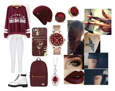 """""""Untitled #104"""" by polyvoreisbae ❤ liked on Polyvore featuring Dr. Martens, Herschel Supply Co., Keds, Casetify, Lauren Ralph Lauren, Michael Kors and Chatham"""