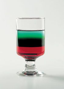 Also called a rainbow cordial, the Pousse Café is an after-dinner drink composed of several colored liqueurs skillfully poured into a narrow, straight cordial...