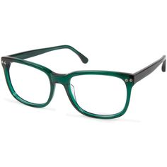 Cynthia Rowley Emerald Rectangle Plastic Eyeglasses (390940901) ($61) ❤ liked on Polyvore featuring accessories, eyewear, eyeglasses, green, cynthia rowley glasses, rectangular eyeglasses, plastic eyeglasses, plastic glasses and cynthia rowley