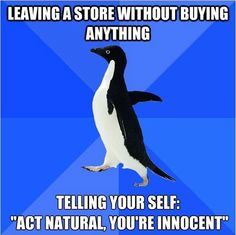 Leaving the store…
