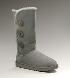 Ugg Womens Bailey Button Triplet Grey - UGGs Outlet With Elegant Design, Free Shipping, Free Tax, Door to door delivery