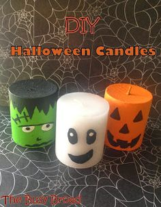 DIY Halloween Candles.  A good halloween craft for kids