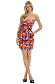 Shoshanna Orange & Blue Floral Dress :)