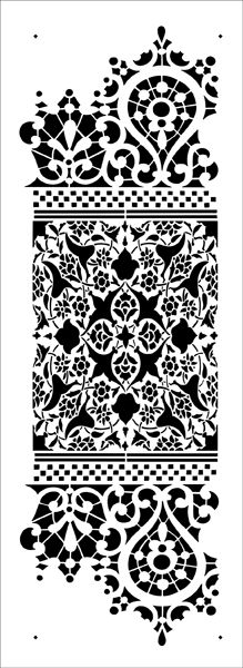 Lace Border stencil from The Stencil Library VINTAGE range. Buy stencils online. Stencil code VN302.
