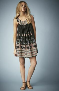 kate moss for topshop embroidered dress