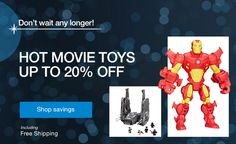 Hot Movie Toys up to 20% off -- Shop savings | Ship Worldwide with Borderlinx.com Cyber Monday Deals, Ship, Best Deals, Toys, Movies, Free, Shopping, Activity Toys, Films