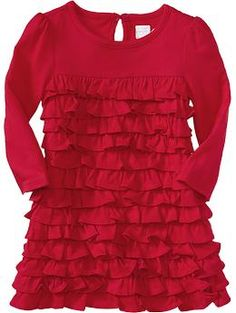Ruffle-Tiered Jersey Dresses for Baby | Old Navy - Christmas dress?