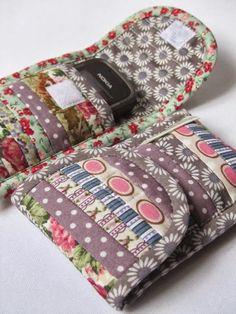 Criar com Tecidos: Porta celular e aproveitando retalhos em Patchwork