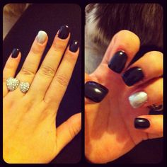 nail ideas, love the ring too!