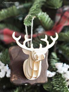 DIY Deer Head Ornament