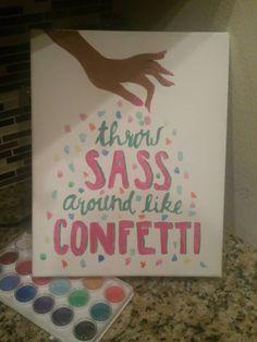 confetti sass canvas