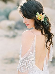 Stunning Bridal inspiration from Joshua Tree National Park, California by Joshua Aull, featuring a Rue de Seine Wedding dress from The Dress Theory.