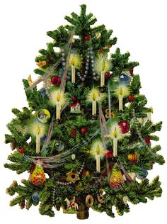 old fashioned christmas tree - Google Search