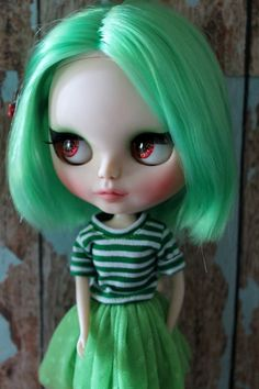 Emerald a gorgeous green haired custom by WillowDesignstoyshop