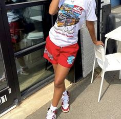 Swag Outfits For Girls, Chill Outfits, Cute Swag Outfits, Cute Comfy Outfits, Mode Outfits, Outfits With Jordans, Tomboy Fashion, Teen Fashion Outfits, Retro Outfits