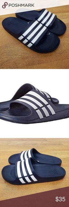e8bc48194 Adidas Duramo Slides Sandals Flip Flops size 10 Adidas Duramo Slides  Sandals Flip Flops Beach Wear