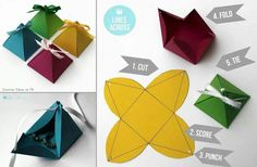 Scatolina a piramide origami
