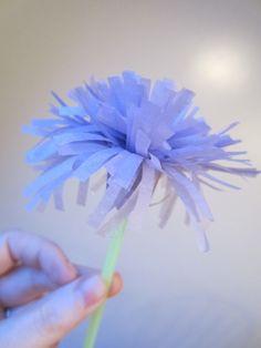 Easy tissue paper flowers :)