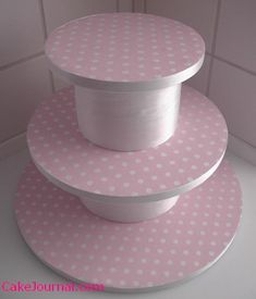 Make a cupcake stand with cake circles and cake dummies or with oatmeal cans.