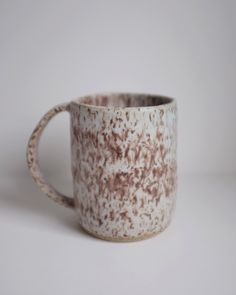 Tall Speckled Mug by AcquiredHome on Etsy https://www.etsy.com/listing/501805063/tall-speckled-mug
