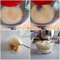 Espuma de limón, montaje del postre Pastry And Bakery, Mini Cheesecakes, Food Hacks, Sweet Recipes, Deserts, Pudding, Yummy Food, Candy, Chocolate