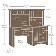 found it at wayfair pinellas computer desk with hutch u0026 3 storage drawers office pinterest storage drawers desks and drawers