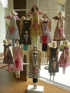 ARTE COM QUIANE - Paps,Moldes,E.V.A,Feltro,Costuras,Fofuchas 3D: Molde boneca Tilda