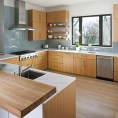 houzz mid century modern kitchens - Google Search