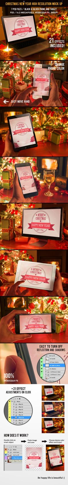#Christmas #NewYear #Mockup #design #template #macbook #imac #ipad #photoshop Download: http://graphicriver.net/item/christmas-new-year-mock-up/9830869