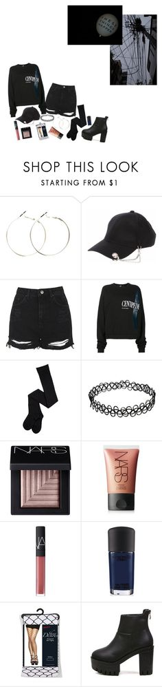 """#640"" by catdyedblack ❤ liked on Polyvore featuring Topshop, Hood by Air, CO, NARS Cosmetics and MAC Cosmetics"