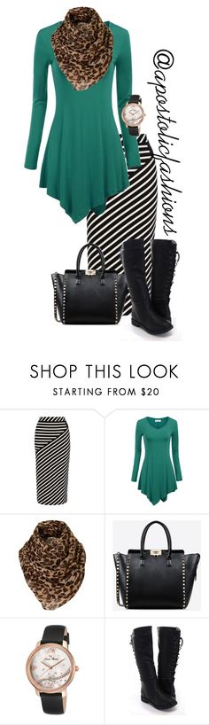 """""""Apostolic Fashions #1595"""" by apostolicfashions ❤ liked on Polyvore featuring Karen Millen, Valentino, Lucien Piccard, modestlykay and modestlywhit"""