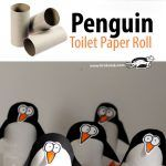 Toilet Paper Roll Penguin Craft Project for Kids