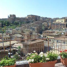 Our terraces #hotelminervasiena #Siena #Italy