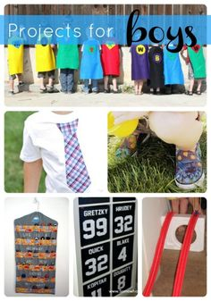 Moms of boys- you'll love this roundup of fun projects for boys!