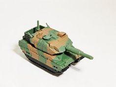 KAIYODO CapsuleQ Capsule Q WTM World Tank Museum Series 3 Deform Style Vehicle Japan Ground Self-Defense Force JP Type 10 MBT Tank Nato Green