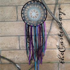 Hey, I found this really awesome Etsy listing at https://www.etsy.com/listing/160204532/bohemian-dreamcatcher-blacks-purples