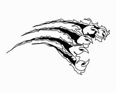 Wildcat Claw | Go Back > Gallery For > Wildcat Claws Tiger Claw Tattoo, Cat Face Drawing, Yearbook Covers, Lion, Nose Art, Online Images, Logo Design Inspiration, Claws, Vector Art