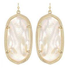 Kendra Scott Elle Drop Earrings Ivory Mother of Pearl  Item # EAOQXX $50.00 Kendra Scott gives her signature Danielle drops a mini-makeo...